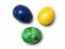 τα μπλε eastereggs πράσινα κίτρινος Στοκ φωτογραφία με δικαίωμα ελεύθερης χρήσης