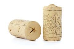 τα μπουκάλια βουλώνουν το κρασί δύο Στοκ Εικόνα