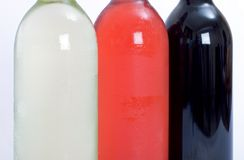 τα μπουκάλια κόκκινα αυξή Στοκ φωτογραφίες με δικαίωμα ελεύθερης χρήσης
