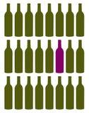 τα μπουκάλια που τίθεντα Στοκ Εικόνες