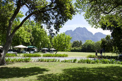 Τα μπλε βουνά της επαρχίας ακρωτηρίων, Stellenbosch, Νότια Αφρική στοκ φωτογραφία με δικαίωμα ελεύθερης χρήσης