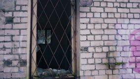 Τα μόνα homeles ψάχνουν κάτι στο εγκαταλειμμένο κτήριο απόθεμα βίντεο