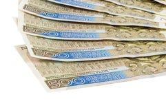 Τα νέα τραπεζογραμμάτια 500 γυαλίζουν zloty στο άσπρο υπόβαθρο Στοκ Εικόνα