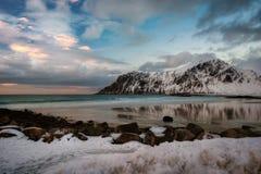 Τα νησιά Νορβηγία Lofoten Στοκ Φωτογραφίες