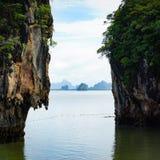 Τα νησιά στη θάλασσα στην Ταϊλάνδη είναι διαφορετικά και όμορφα, ακατοίκητος στοκ εικόνες