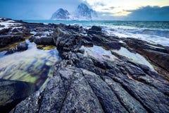 τα νησιά Όμορφο τοπίο άνοιξη της Νορβηγίας Στοκ εικόνες με δικαίωμα ελεύθερης χρήσης