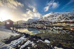 τα νησιά Όμορφο τοπίο άνοιξη της Νορβηγίας Στοκ φωτογραφίες με δικαίωμα ελεύθερης χρήσης