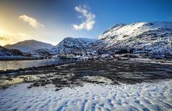 τα νησιά Όμορφο τοπίο άνοιξη της Νορβηγίας Στοκ Εικόνα
