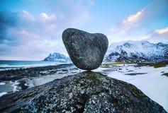 τα νησιά Όμορφο τοπίο άνοιξη της Νορβηγίας Στοκ Φωτογραφία
