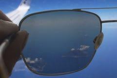 Τα νησιά Eolian μέσω των γυαλιών ηλίου Στοκ Φωτογραφία