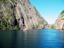 τα νησιά trollfjord Στοκ Εικόνες