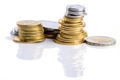 τα νομίσματα απομόνωσαν τ&omicro στοκ φωτογραφίες
