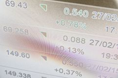 τα νομίσματα κατεβάζουν το κόκκινο απόθεμα UPS snd μολυβιών αγοράς γραφικών παραστάσεων Στοκ Εικόνα