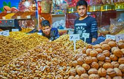 Τα νόστιμα καρύδια στην Τεχεράνη Στοκ Εικόνα