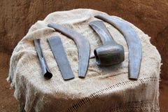 Τα οικιακά εργαλεία, ηλικία χαλκού στοκ φωτογραφία με δικαίωμα ελεύθερης χρήσης