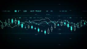Τα οικονομικά στοιχεία μετακινούνται το μπλε ελεύθερη απεικόνιση δικαιώματος