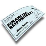 Τα οικονομικά χρήματα πληρωμής του Μπιλ ελέγχου ευθύνης που οφείλονται την πληρωμή του de Στοκ Εικόνα