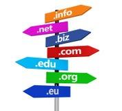 Τα ονόματα περιοχών Διαδικτύου ιστοχώρου καθοδηγούν Στοκ φωτογραφία με δικαίωμα ελεύθερης χρήσης