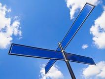 τα ονόματα σταυροδρομιών  Στοκ Φωτογραφία