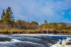 Τα ορμητικά σημεία ποταμού του Winnipeg ποταμού Στοκ Φωτογραφία