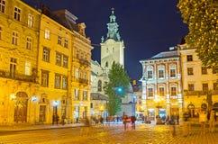 Τα ορόσημα Lvov το βράδυ Στοκ φωτογραφίες με δικαίωμα ελεύθερης χρήσης