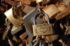 Τα λουκέτα της αγάπης Στοκ Εικόνες