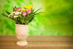 Τα λουλούδια βάζων αυξήθηκαν Daisy Στοκ Φωτογραφίες