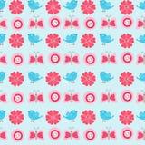 τα λουλούδια πουλιών που τίθενται το διάνυσμα αυτοκόλλητων ετικεττών διανυσματική απεικόνιση