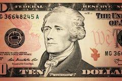 τα δολάρια ανασκόπησης μας απομόνωσαν λευκούς Στοκ Εικόνες