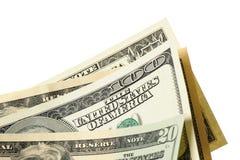 τα δολάρια ανασκόπησης μας απομόνωσαν λευκούς Στοκ Εικόνα