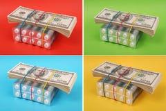 τα δολάρια βάζουν το λε&upsi Στοκ Εικόνες