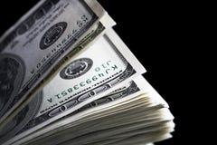 Τα δολάρια κλείνουν επάνω Στοκ Εικόνα