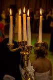 Τα πέντε καίγοντας κεριά Στοκ εικόνα με δικαίωμα ελεύθερης χρήσης