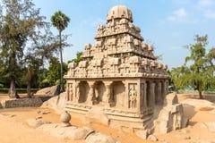 Τα πέντε Rathas, ratha Yudhishthir, Mahabalipuram, Tamil Nadu στοκ φωτογραφία με δικαίωμα ελεύθερης χρήσης