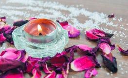 τα πέταλα κεριών αυξήθηκαν Στοκ Φωτογραφία