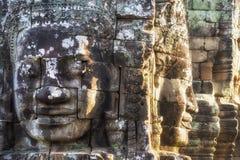 Τα πέτρινα πρόσωπα στο ναό Bayon σε Angkor, Siem συγκεντρώνουν, Καμπότζη Στοκ φωτογραφία με δικαίωμα ελεύθερης χρήσης