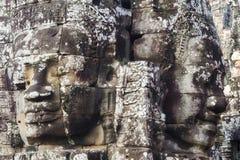 Τα πέτρινα πρόσωπα στο ναό Bayon, Angkor, Siem συγκεντρώνουν, Καμπότζη Στοκ Εικόνες