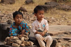 Τα παίζοντας παιδιά κοντά στο Ankor Wat, Καμπότζη Στοκ φωτογραφίες με δικαίωμα ελεύθερης χρήσης