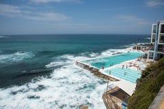 Τα παγόβουνα συγκεντρώνουν: Παραλία Bondi στοκ φωτογραφίες με δικαίωμα ελεύθερης χρήσης