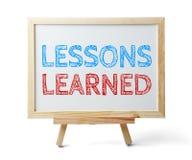Τα παθήματα που γίνονται μαθήματα Στοκ Εικόνες