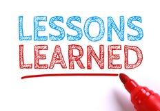 Τα παθήματα που γίνονται μαθήματα Στοκ φωτογραφία με δικαίωμα ελεύθερης χρήσης