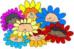 τα παιδιά ανθίζουν διανυσματική απεικόνιση