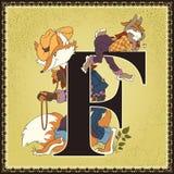 Τα παιδιά κρατούν το αλφάβητο παραμυθιού κινούμενων σχεδίων Γράμμα φ Κουνέλι Brer και αλεπού Brer Οι ιστορίες του θείου Remus από Στοκ εικόνα με δικαίωμα ελεύθερης χρήσης
