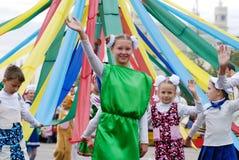 τα παιδιά μπορούν πόλος Στοκ εικόνα με δικαίωμα ελεύθερης χρήσης