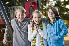 τα παιδιά σταθμεύουν το π&om Στοκ Εικόνα
