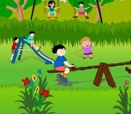 τα παιδιά σταθμεύουν Στοκ εικόνες με δικαίωμα ελεύθερης χρήσης