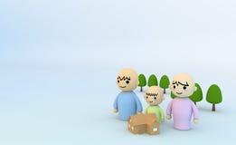 τα παιδιά συνδέουν το σπίτ&i διανυσματική απεικόνιση