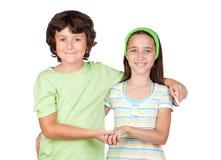 τα παιδιά συνδέουν Στοκ Εικόνες