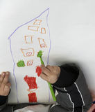 τα παιδιά σύρουν στοκ φωτογραφία με δικαίωμα ελεύθερης χρήσης