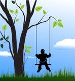 τα παιδιά ταλαντεύονται Ελεύθερη απεικόνιση δικαιώματος